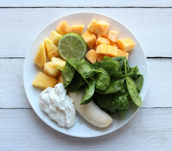 You'll love this Green Smoothie with Pineapple and Mango. Sweet and delicious and easy to make.