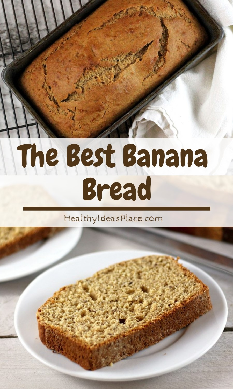 Look no further for the best banana bread recipe! It's flavorful and moist, but made with a little less sugar and more whole-grains, like whole wheat pastry flour.