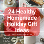 Collage of pictures of homemade food gifts