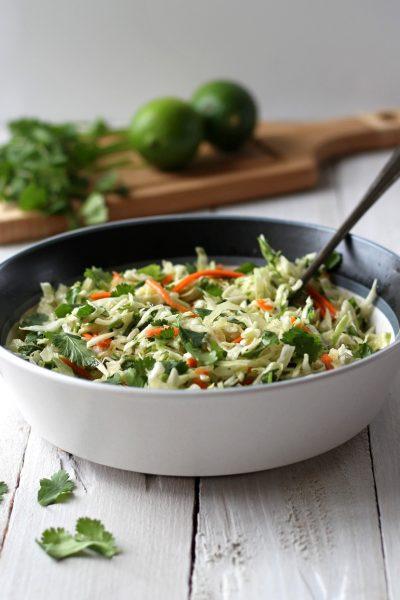 Easy Cilantro Lime Coleslaw