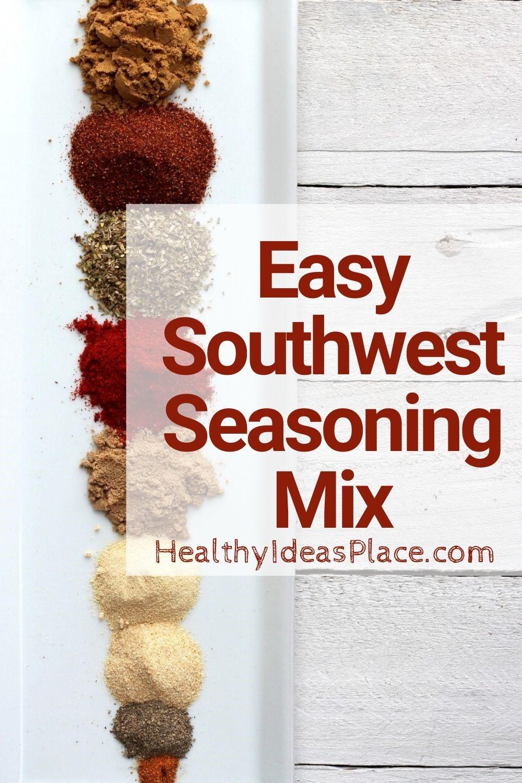 seasoning mix ingredients on long white plate