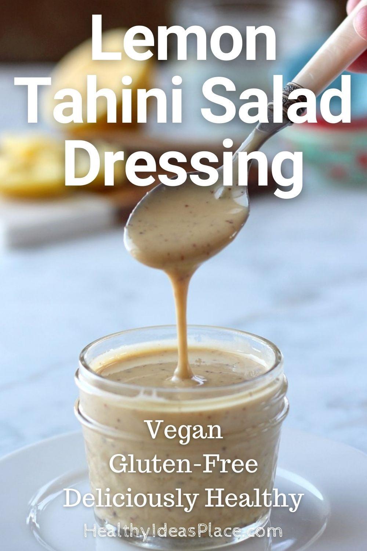 Salad dressing in clear jar